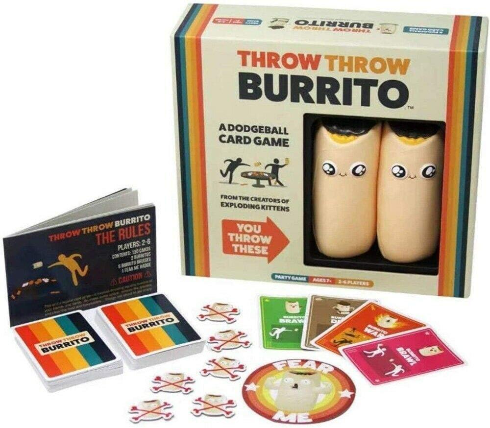 SUT Juego De Cartas, Juego De Mesa Interactivo Burrito Dodgeball, Adecuado para Juegos De Fiesta Familiar/Fiesta/Padre-Hijo,Yellow: Amazon.es: Hogar
