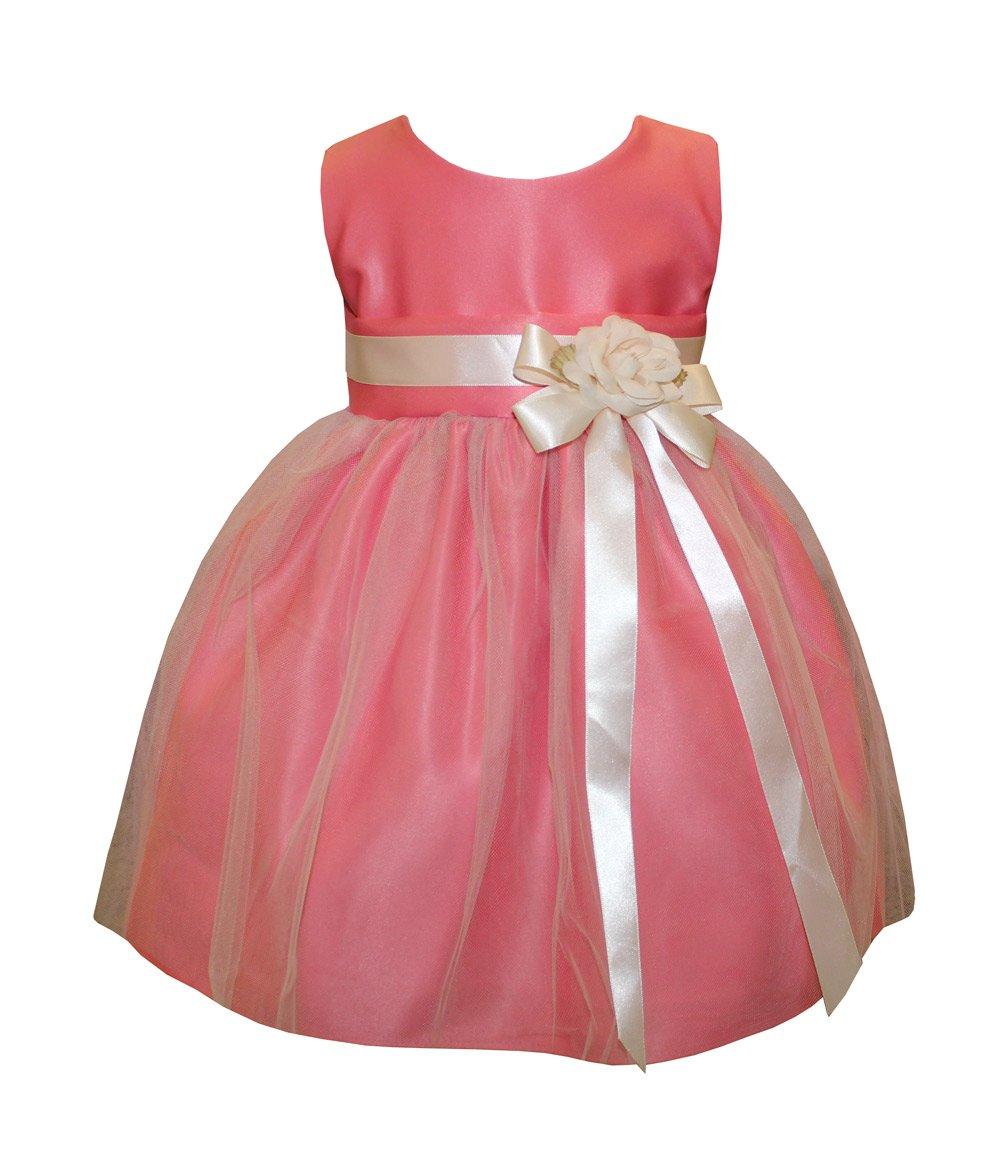 Amazon.com: Sweet Kids Baby Girls\' Vintage Satin & Tulle Flower Girl ...