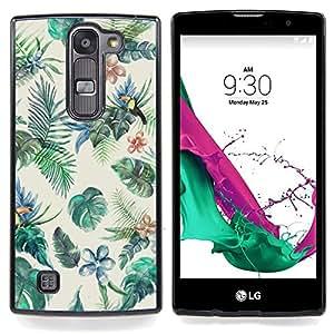 """Pintura de Aves Selva colorido"""" - Metal de aluminio y de plástico duro Caja del teléfono - Negro - LG Magna / G4C / H525N H522Y H520N H502F H500F (G4 MINI,NOT FOR LG G4)"""