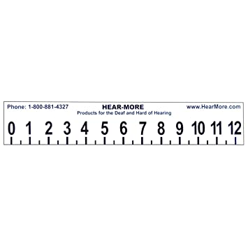 large print 12 inch ruler with sign language
