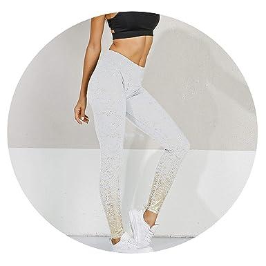Amazon.com: Pantalones de yoga para mujer, cintura alta, sin ...