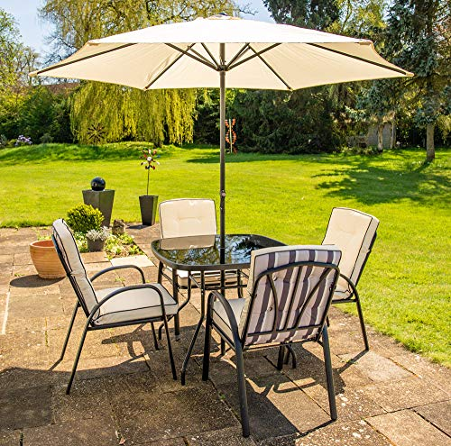 Hectare-Hadleigh-4-Seater-Square-Garden-Dining-Patio-Furniture-Set-In-Black