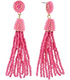 INPINK Fashion Jewelry Confetti Beaded Tassel Earrings