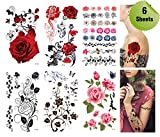 Supperb® Mix Flower Temporary Tattoos / 6-pack