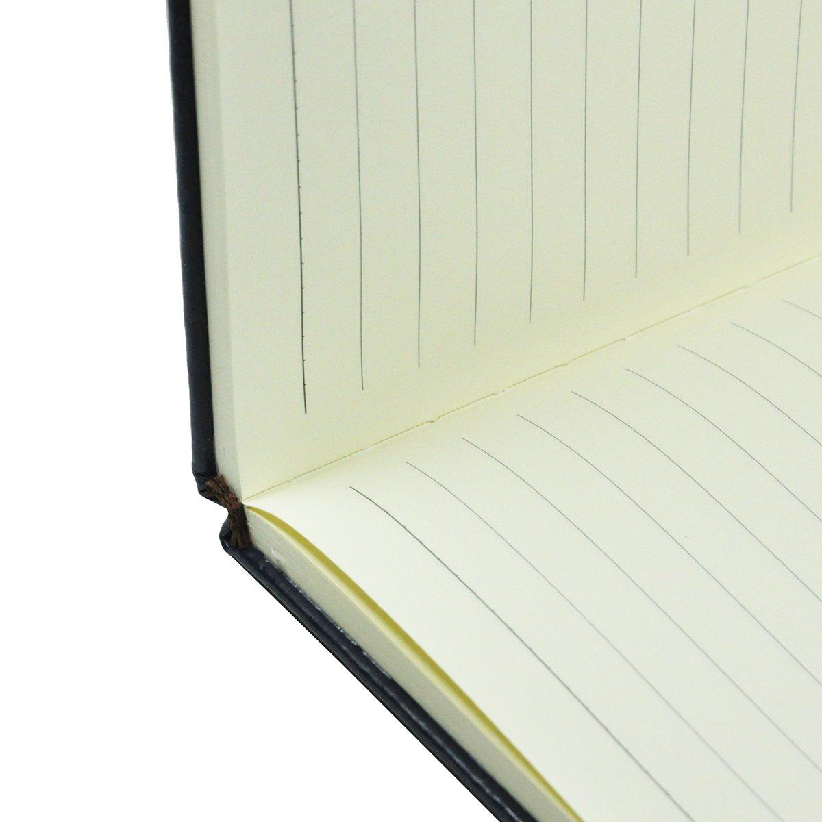 Littfun Leather Notebook A5 Journal 11 Color Optional Black