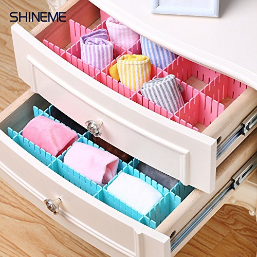 8pcs diy drawer organizerdrawer divider household storage 8pcs diy drawer organizerdrawer divider household storage shinemethickening housing spacer sub grid finishing shelves for home tidy closet stationary solutioingenieria Image collections