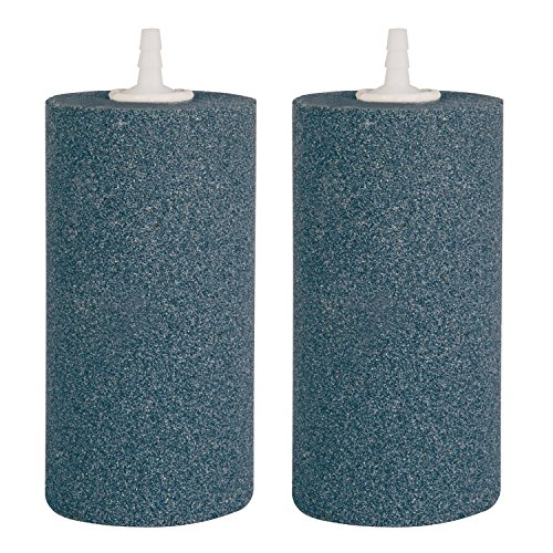 VIVOSUN Air Stone 2PCS 4 X 2 Inch Large Air Stone Cylinder for Aquarium and Hydroponics Air Pump (2PCS 4 x 2 Inch) by VIVOSUN