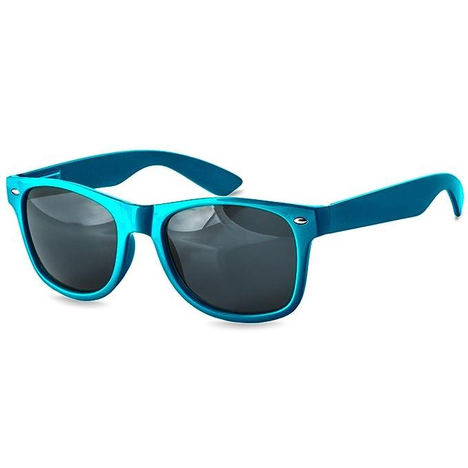 CASPAR SG017 Damen Wayfarer Sonnenbrille , Farbe:blau / blau verspiegelt