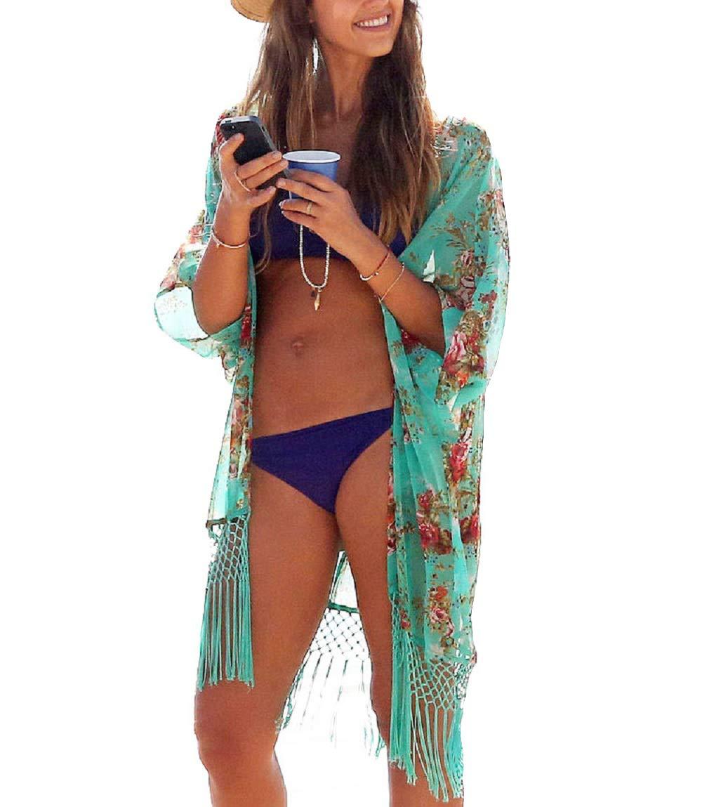 UK Girls Kids Summer Swimwear Bikini Cover Up Coat Kimono Beach Dress Blouse F//1