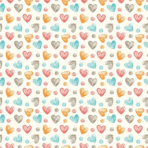 CSFOTO 8x8ft Background for Hand Drawing Heart Shaped Photography Backdrop Love Sweet Baby Shower Childish Party Graffiti Decor Tablecover Child Photo Studio Props Vinyl Wallpaper Tablecloth (Digital Photo 8' Album)