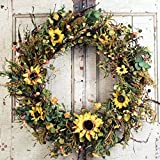 22 in. Sunflower Silk Wreath