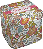 RNK Shops Wild Garden Cube Pouf Ottoman - 13'' (Personalized)