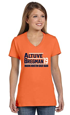 wholesale dealer ff2cf 55d64 Shedd Shirts Orange Houston Altuve Bregman 2019 Ladies V ...