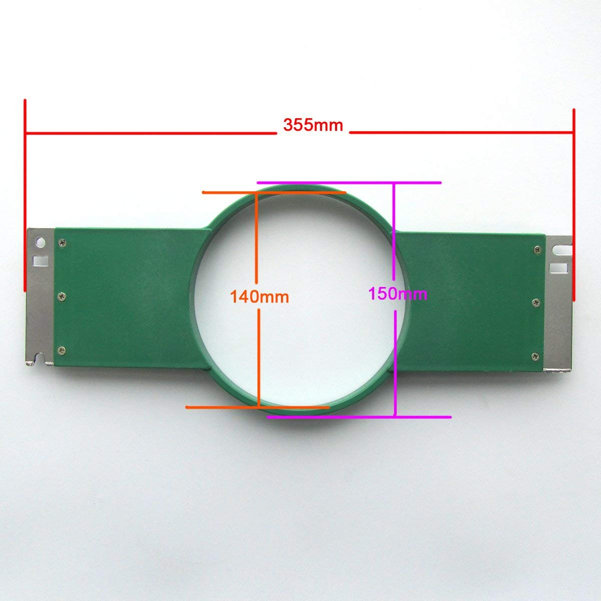 KUNPENG - 1 Set Embroidery Hoop (1 Frame+ 1 Ring) 15cm 5.9'' - 355mm Wide (14'') FIT for Tajima Commercial #KP355-085G-15 by ckpsms