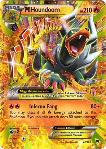 Pokemon - Mega-Houndoom-EX (22/162) - XY BREAKthrough - Holo