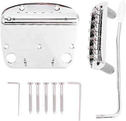 Guitar tremolo bridge vibrato unit springs arm screws chrome st new
