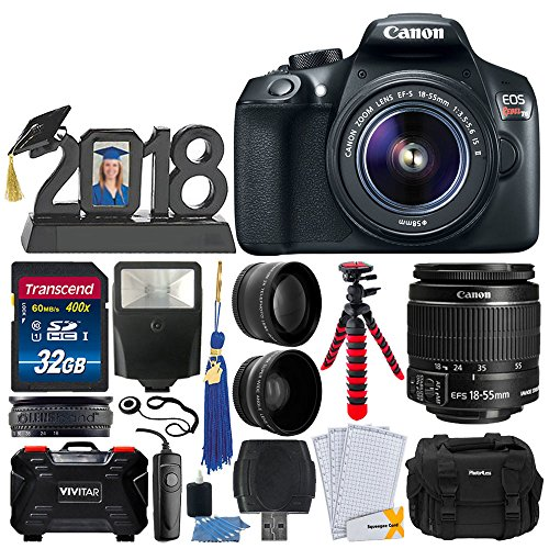 Canon EOS Rebel T6 DSLR Camera + EF-S 18-55mm Lens + 32GB Me