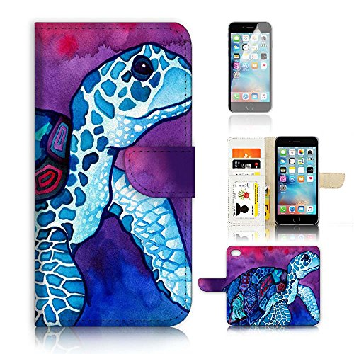 Flip Wallet Case Cover and Screen Protector Bundle A20298 T