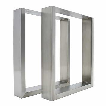 2 patas de mesa de acero inoxidable - modernas y elegantes patas ...