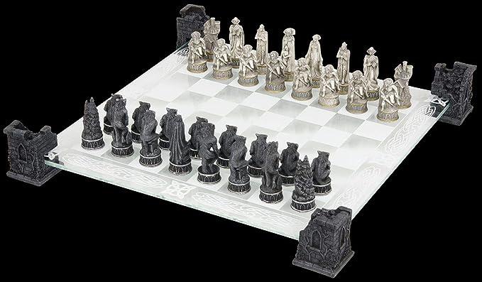 Nemesis Now - vampiro y hombre lobo juego de ajedrez: Amazon.es: Hogar
