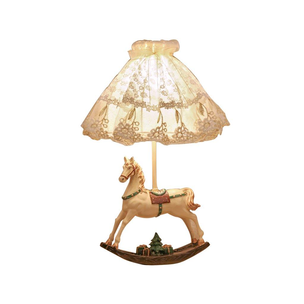 LEDロマンチックな王女のテーブルランプのベッドサイドランプのデザイン子供の子供の女の子の部屋の装飾ランプの贈り物少年少年 B07RLJ3NT7