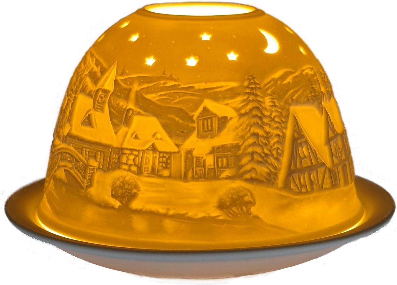 Blanc R/äder Parfums Cadeau Articles GmbH Photophore Heure dhiver Porcelaine 12/x 12/x 8/cm