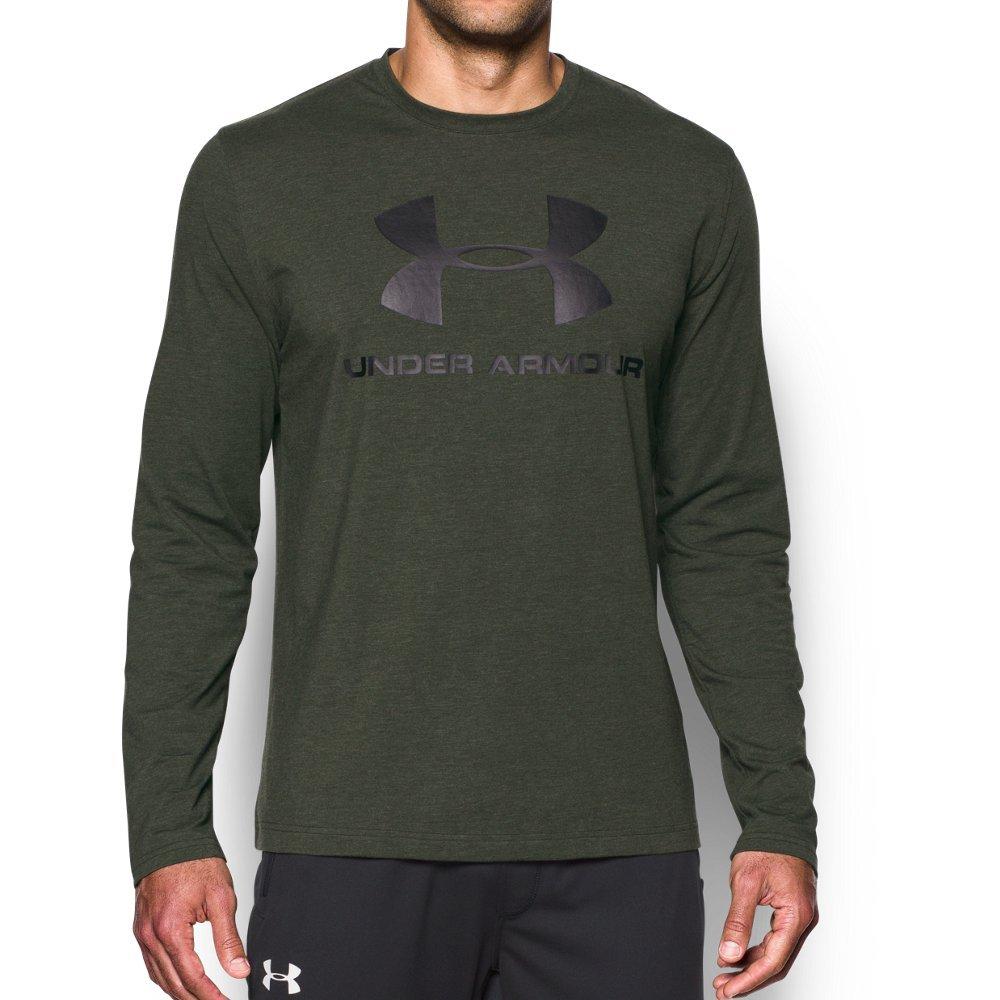 Under Armour Men's Sportstyle Long Sleeve T-Shirt,Artillery Green Medi /Black, Large