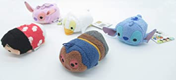 Conjunto Completo 5 Mini Peluche Lilo e Stitch 8cm Tsum ...