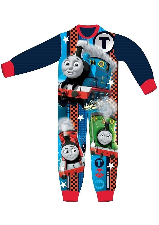 Boys Kids All In One Thomas Soft Onesie Pyjamas Character Childrens Nightwear Warm Tdp
