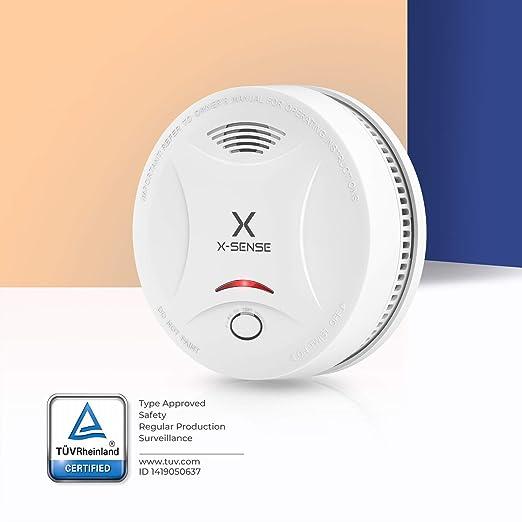 X-Sense Alarma de Humo SD13, Detector Fotoeléctrico de Humo con Alarma de Incendio Inteligente, 10 Años de Duración de la Batería y Chequeo ...