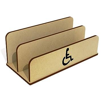 Símbolo de Silla de Ruedas De Madera Carta Poseedor / Organizador (LH00014148)