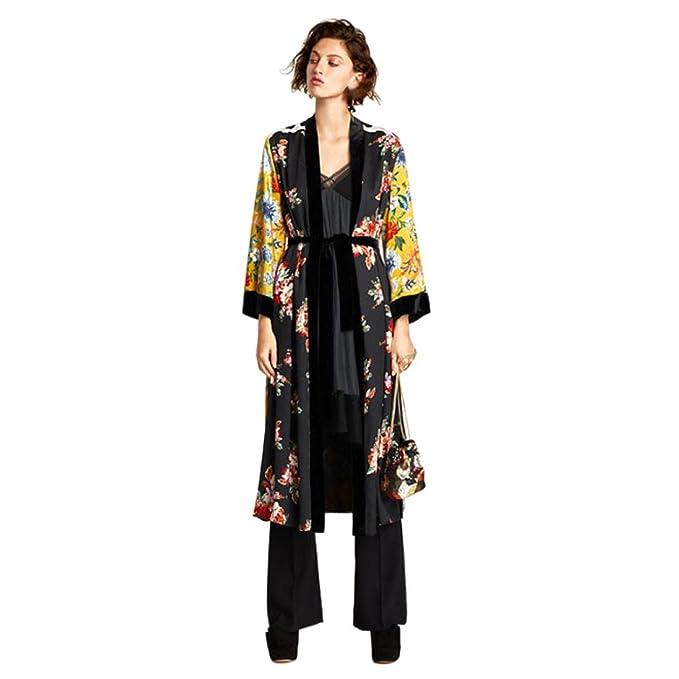 a3ed603f632e1d Amazon.com: Sunward Women's Floral Kimono Cardigan Long Blouse Loose Tops  Outwear: Clothing
