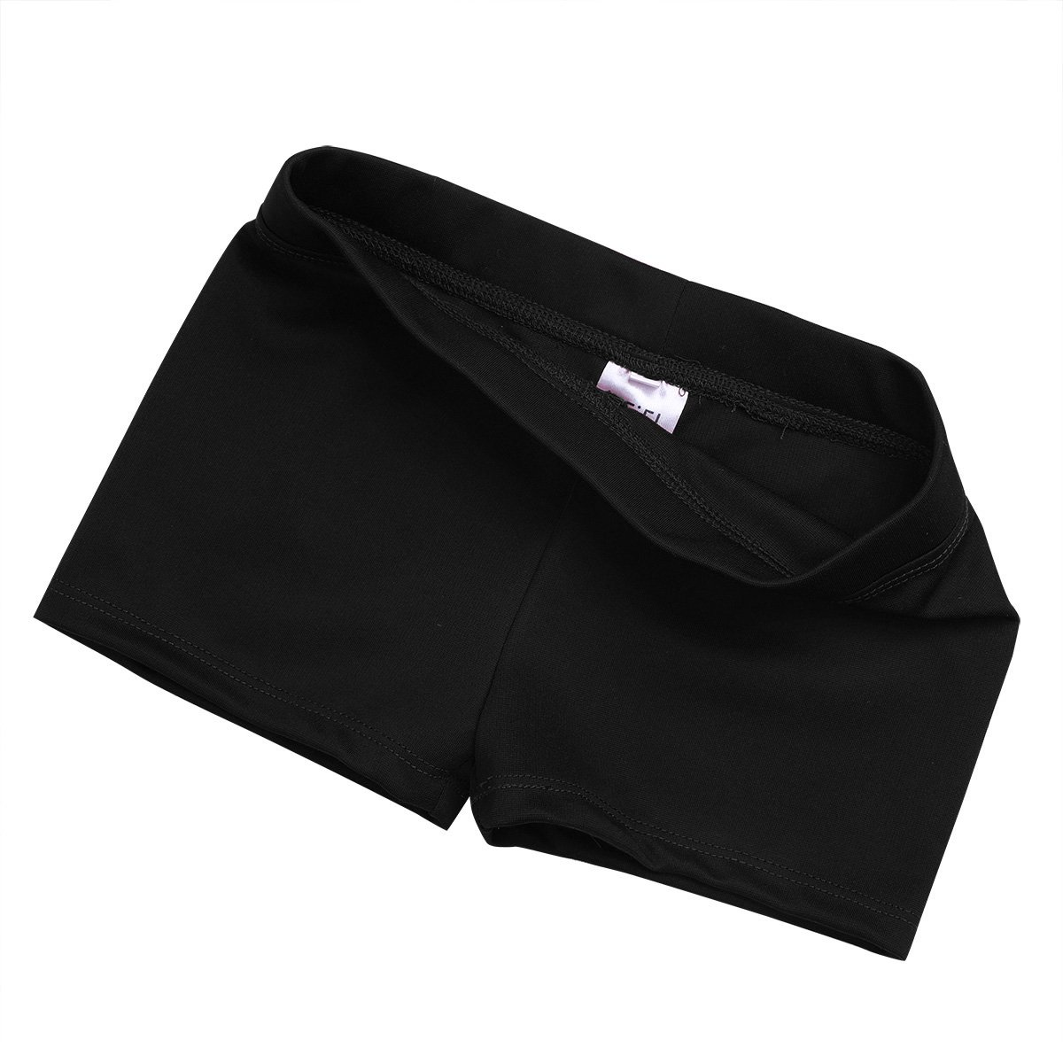 dPois Big Girls Boy Cut Low Rise Gymnastics Sports Ballet Dance Stretch Shorts Workout Cycling Hot Pants