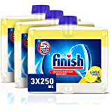 Finish Dishwasher Cleaner Liquid, Lemon Sparkle, Triple Pack, 250ml, 3 Pack