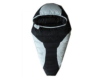 Xin Si Ultraligero Momia Saco De Dormir Saco De Dormir De 3 Estaciones Mochila Senderismo Camping Salvaje Saco De Dormir Impermeable,Black-230*85*50cm: ...