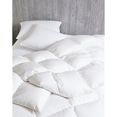 Dreamstead by Cuddledown Luxurious 700FP Goose Down Warmer Hypoallergenic Duvet Comforter, Full/Queen, Sateen