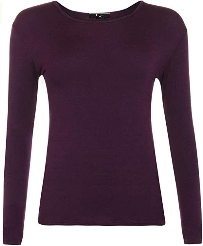 RSVH Kids Plain Basic Top Long Sleeve Girls T-Shirt Tops Crew Uniform