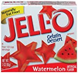 Jell-O Watermelon Gelatin Dessert, 3oz Boxes (Pack of 12)