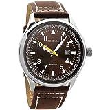 Sekonda 3882 - Reloj de niños de cuarzo marrón con correa de piel (cristal mineral)
