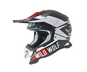 CASCO SHIRO MX-917 CARBONO WILD WOLF (M)