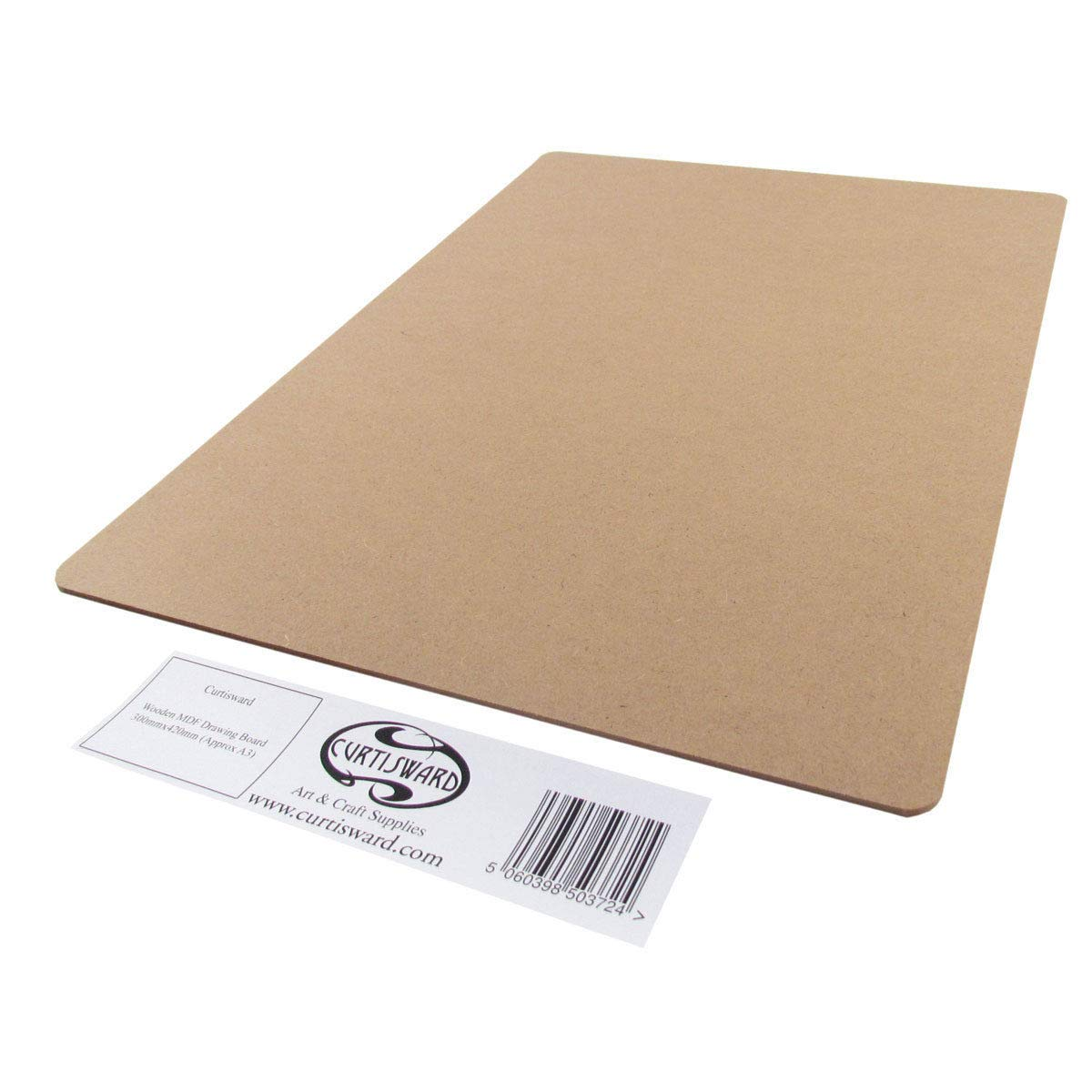Curtisward Wooden MDF Drawing Board A3 (297 x 420mm). Arts & Craft Drawing Board