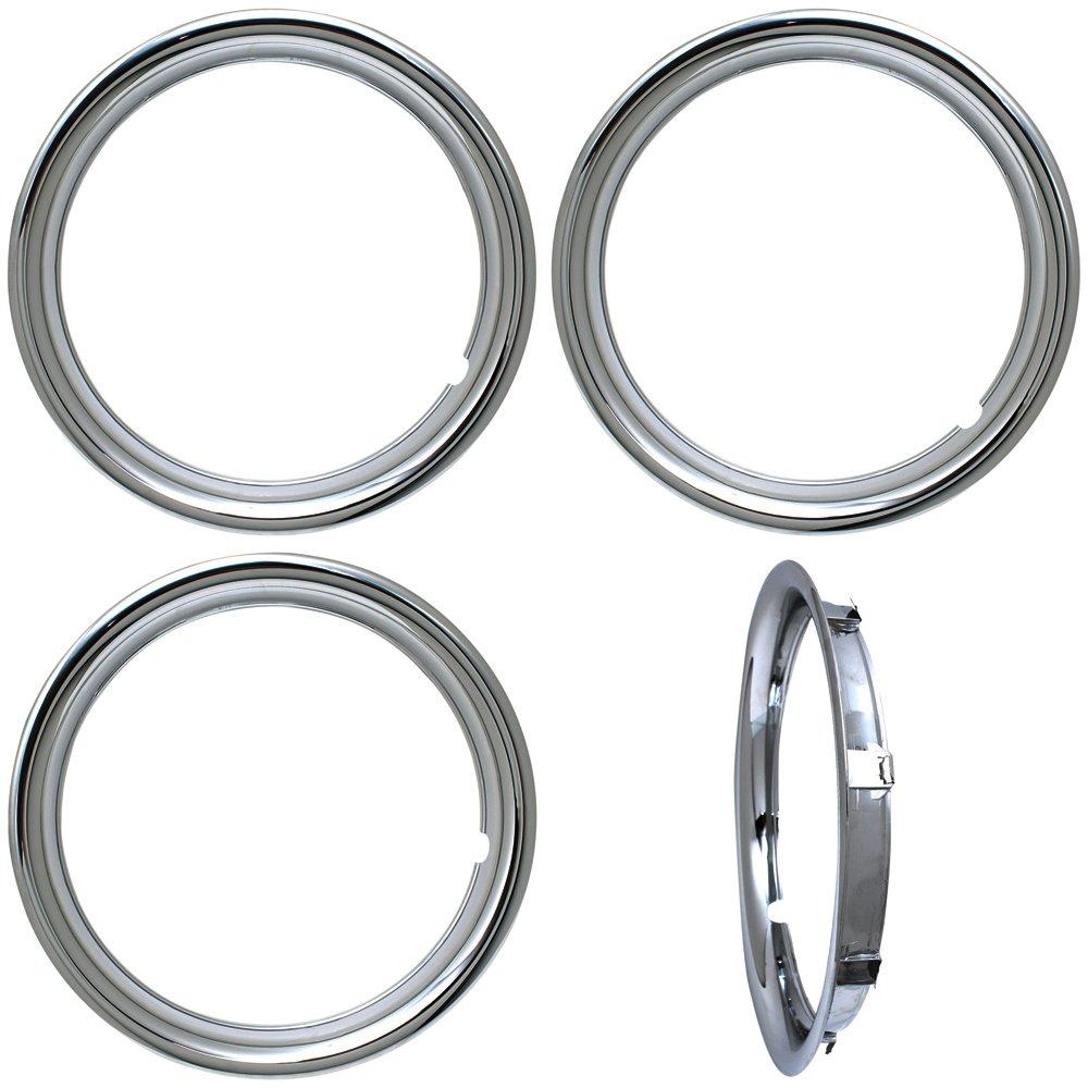 OxGord Trim Rings 16 inch diameter (Pack of 4) Chrome ABS Plastic Beauty Rims by OxGord (Image #1)
