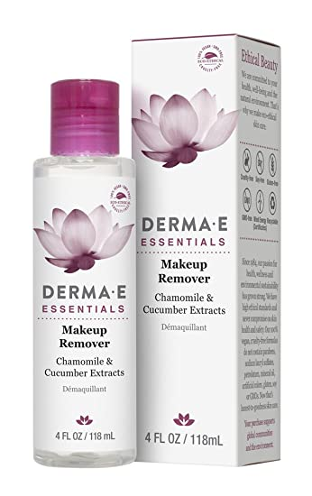 DERMA-E - Makeup Remover with Chamomile & Cucumber Extracts - 4 fl. oz. (pack of 2) Hyaluronic Serugel Age Defying Facial Moisture Boost - 1 fl. oz. by DeVita (pack of 1)