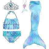 Amazon.com: Mskseciy Traje de baño para niñas, 3 piezas ...