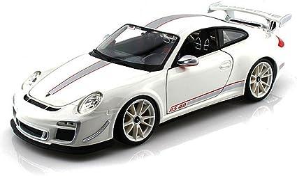 Amazon Com Porsche 911 Gt3 Rs 4 0 White Bburago 11036 1 18 Scale Diecast Model Toy Car Toys Games