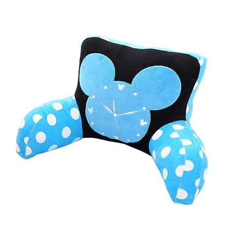 Azul lunares reloj despertador apoyo lumbar almohada con ...