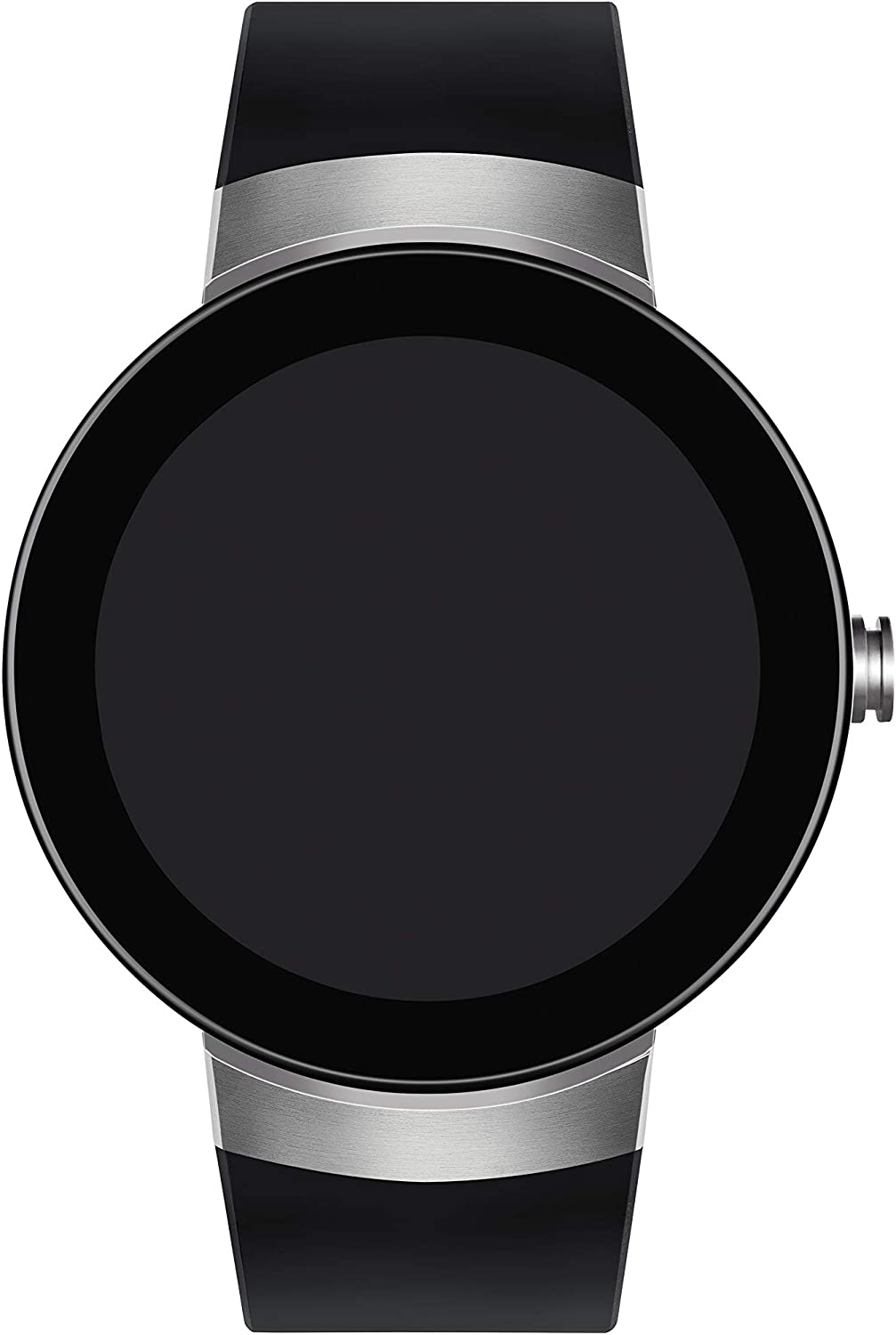 Movado Connect Digital Smart Module Stainless Steel Smartwatch, Silver/Black Strap (Model 3660016)