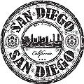 San Diego City California USA United States Travel Grunge Stamp Sticker Decal Design 5'' X 5''