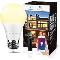 LE Smart ledlamp, E27-gloeilamp, 9 W, komt overeen met 60 W, dimbaar, warm licht, 2700 K, 806 lm, compatibel met Alexa…