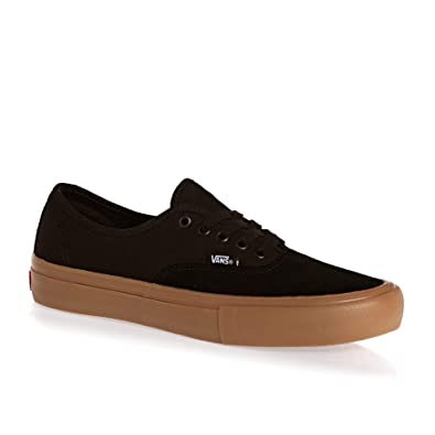 Amazon.com | Vans Authentic Pro Black Gum (13) | Skateboarding